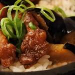 広東炒飯店 - 鶏肉と茄子の甜麺醤風味炒飯