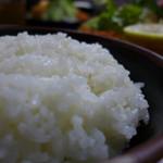 やきかつ太郎 - ご飯。2回までお替わりできます(キャベツも味噌汁も2回までオッケー!)