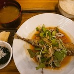 MORI-MESHI 小田原 - 秋刀魚の香味揚げ定食(ランチメニュー)