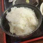 農村レストラン 筑膳 - 「ご飯 (180円)」、釜戸で炊いたご飯って美味しい~、しかもお代わり自由♪