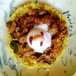 やさい食堂 堀江座 - 太陽カリー(チキンキーマとたまご)  900