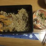 食堂 丸善 - 利尻 磯めし かにみそデラックス弁当 ¥1,836