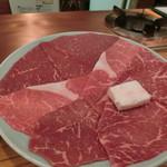 レストランちんや亭 - Oct 2016'「すき焼 椿」の肉(赤身)4,000円