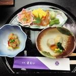 日本料理まるい - 料理写真:煮物、お料理の始まりです。