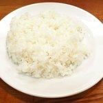 キッチンセブン街のハンバーグ屋さん - デミたまハンバーグ定食(200g) 590円 のライス