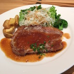ハルダイニング - 【ランチ】豚ロース肉の鉄板焼き 980円(税込)