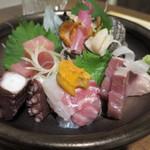 鮮魚菜彩 ゆうや - 造り5種盛り合せ