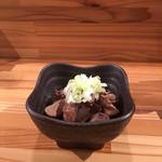 そば屋 かもん - 鴨のモツ煮250円 優しい味付けで美味しかったです。