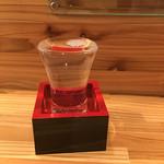 そば屋 かもん - 日本酒です。 初孫しおさい790円