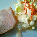 漠漠楼 - 黒酢酢豚ランチセット/サラダ