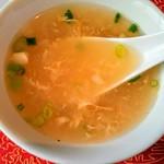漠漠楼 - 黒酢酢豚ランチセット/スープ