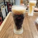 天ぷら・鉄板焼酒場 しん家 - 黒ビール