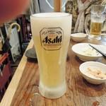 天ぷら・鉄板焼酒場 しん家 - 生中