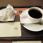 上島珈琲店 - ホットコーヒーとパン