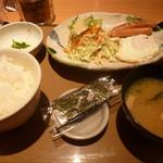 やよい軒 - 目玉朝朝食(460円)