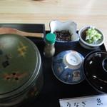 うなぎの魚熊 - 料理写真:ダブル丼2520円 一の重が鰻丼 二の重がまぶし丼