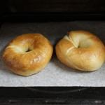 クーチャンベーグル - お店のマニュアルに従って、180度のオーブンで7~8分リベイク