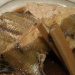 恵比寿 笹岡 - 羅臼産カレイの煮付け;アップ