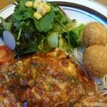 星さん家のハンバーグ - トマトとチーズの煮込み風