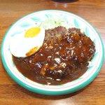 キッチンセブン街のハンバーグ屋さん - デミたまハンバーグ定食(200g) 590円