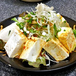 みやこや - ピリ辛豆腐サラダ(2016年10月)