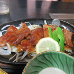 ひめ路 - せっかく阿蘇まできたんだからどうしても食べたかった赤牛の鉄板焼き、タレが絡んでご飯が進みました。  満足、満足です。