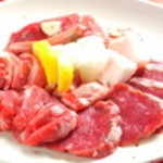 七条ツキトカゲ - 稀少アイスランド産ラム肉は部位ごとに岩塩でお召し上がりを。
