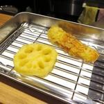 天ぷらとワイン大塩 - ランチ レンコン・ちくわ