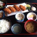 厨 - かきフライ定食(1,330円)
