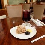 音楽喫茶アカシア - モンブランとグレープフルーツジュース(単品520円)で1040円