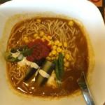 華麺 - カレーラーメンホット660円