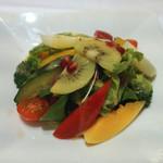 シターラ - トロピカルサラダ キウイ、マンゴウ、トマト、ブロッコリーきゅうり、他