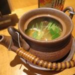 魚真 - 鱧と松茸の土瓶蒸し(¥880−)