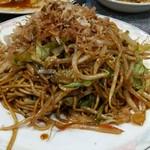 上海麺餃王 - セットの焼きそば。