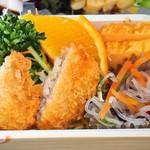 れすとらん いさりび - 晩酌セット(右下:白身魚フライ、春雨サラダ、玉子焼き)