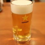 中国麺家 - 生ビール(中) 516円。