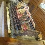 58187182 - 鮎の焼き台 焼き職人がお二人で頑張ってました♪