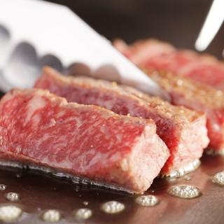 神戸牛や瀬戸内近郊の新鮮な魚介類等豪快に焼き上げます