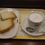 ドトールコーヒーショップ - モーニング(ハニーグリルドベーコン&カフェラテ)