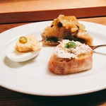 バーカロ フェッロ - 前菜3種盛合せ