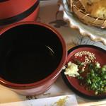 郷屋敷 - つけ出汁(*´д`*)独特ぅ〜♪