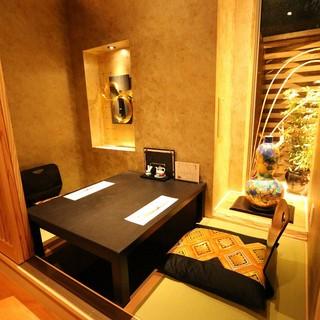 和の優しい雰囲気が漂う個室は、接待にもおすすめです