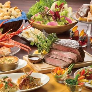 蟹食べ放題付ビュッフェコース