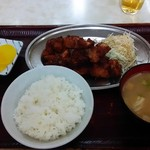 福助食堂 - 『若鶏の唐揚げ定食』600円