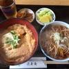 手もみそば 長壽庵 - 料理写真:ミニかつ丼セット800円(税込)