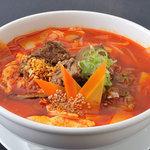 焼肉ぎゅうぎゅう - オレンジ色の肉い奴!「温麺」です。