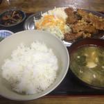 飲み食い市場佐加伊 - 料理写真:魚の竜田揚げとご飯セット(700円)