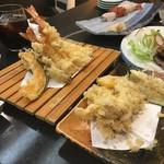ニ幸 - 天ぷら盛り合わせと、タチ天ぷら