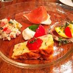 デリツィオーゾ イタリア - 前菜5種盛り合わせ オムレツやサラダなど