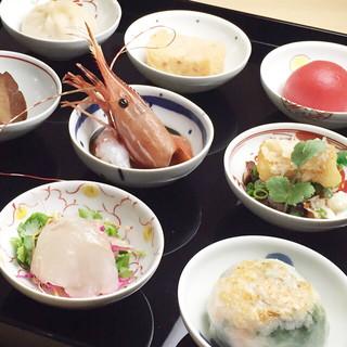 贅沢ランチ【心香膳】オードブル9種に本日のデザート付